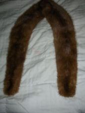 """Vintage ?Mink? Fur Collar fully Lined 42"""" long, 5"""" wide back, 21/2"""" wide front"""