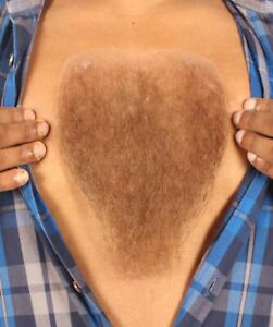 HPO Men's Human Hair Chest Hair For Cosplay Multiple Color Options