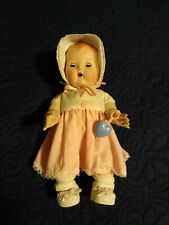 "Mint 11"" Tiny Tears Doll And Clothes, Porcelain Reproduction Of Vintage Flawless"