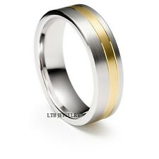 MENS TWO TONE GOLD WEDDING BANDS,10K WHITE and YELLOW GOLD MENS WEDDING RINGS