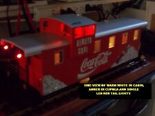 "LED Smd Caboose lighting 6"" x 2"" x 4"" Warm White 2-Solid Red Tail Lights LGB"