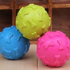 1Pc Caoutchouc Balle Boule Sonore Distributeur Croquette Jouet pour Chien Animal