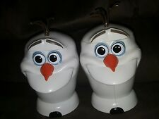 2 Disney on Ice Olaf the Snowman Frozen Plastic Mug w/ Hinged Lid-FREE SHIPPING!