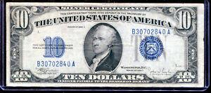 1934-C $10 Silver Certificate B30702840A