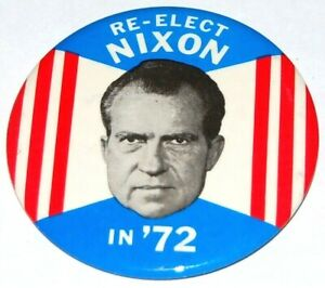 1972 RICHARD NIXON campaign pin pinback button political presidential election