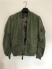 Alpha Industries bomber jacket M Medium Reversible Green And Camo
