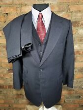 ** J.C. Wells Ltd. ** Bespoke Saville Row 3-Piece Suit - Navy / Striped 38-36R
