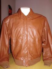 Vintage Type A-2 Us Amry Air Force Chocolate Brown Leather Flight Jacket large