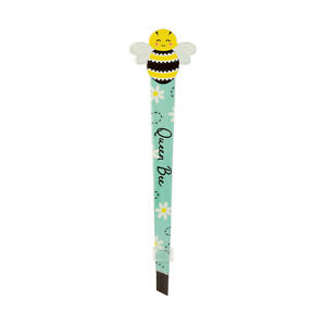 Queen Bee Happy Tweezers Funny Floral Insect Gift Stainless Stell Eyebrow Care