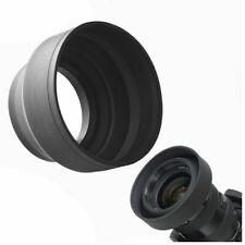 52mm 3-Stage Collapsible Rubber Lens Hood For 50/1.8 Nikon 18-55 50/1.8D B S
