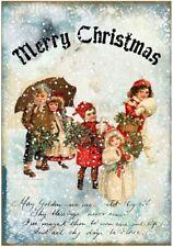 Decoupage-Bastelpapier-Softpapier-Vintage-Shabby-Merry Christmas-12781