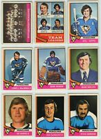 1974-75 OPC Pittsburgh Penguins 20 Card Team Set F to VG (02-03202020)