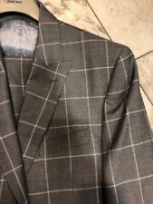 NWT ROSSI MAN Men's Multi Color Check Wool Suit Classic Fit One Button Size 48L