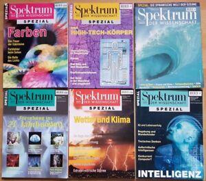 6x Spektrum der Wissenschaft Spezial 1998 1999 2000 Wetter Forschung Intelligenz