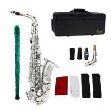 Saxophone Sax EB Be Alto E Flat Brass Pattern on Surface Plastic Mouthpiece V7z8