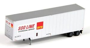 Trainworx # 40316-01 40' Drop Frame SOO Line Trailer 297112  N Scale, MIB