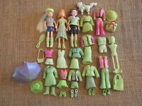 "Polly Pocket Dolls Lot ""Colors of the Rainbow"" Green Girls Outfits 9-30"