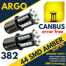 2x BA15S 382 p21w Amber Indicator 1156 LED Yellow Light Bulbs Canbus Error Free