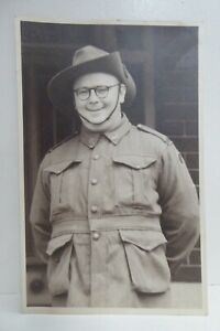 WW2 SOLDIER DIGGER  AUSTRALIAN AIF ARMY MILITARY PHOTOGRAPH