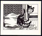 B Kliban Cat PAPER BAG KITTENS vintage funny cat art print