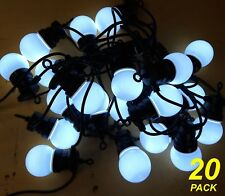 20 Piece Cool White LED Festoon / Party String Light Kit Connectable Low Voltage