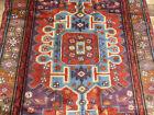 4'x7' Authentic Vintage Geometric Handmade wool Oriental area rug Carpet