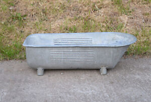 Vintage old baby bath galvanized bath / dog wash