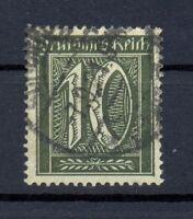 DR 159 b Freimarke 10 Pfg. schwarzoliv gestempelt geprüft (or106)