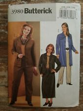 Butterick Sewing Pattern 3980 Women's Jacket Skirt Pants Sizes 28-32 Uncut
