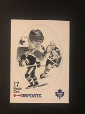 1986 Wendel Clark Kraft Drawing Rookie