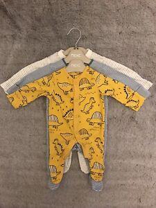 Baby Boy Next TU cotton sleepsuits babygrows age Up To 1 Month Newborn Bundle 🦕
