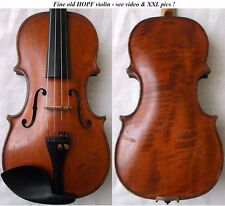 OLD GERMAN HOPF VIOLIN - see VIDEO - ANTIQUE violino geige バイオリン скрипка 小提琴 705