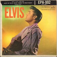 "RARE ELVIS PRESLEY ""RIP IT UP"" USA 50'S EP RCA VICTOR EPA-992, 2eme LABEL !"