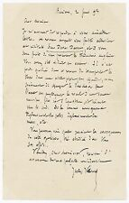 1893 | JULES VERNE | superb ALS letter re: his sci-fi novel Sans DESSUS Dessous