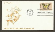 #1712 13c Swallowtail Butterfly - Flying Gems Cachet FDC