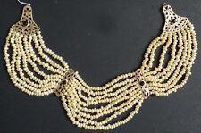Collier à 8 rangs de perles + vermeil argent parure ventrale mariage ethnique