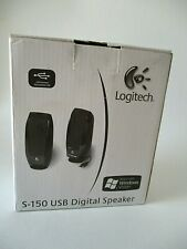Logitech S-150 Digital Speakers Black Never Used 980000028