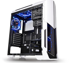 Thermaltake Versa Clear Computer Tower Atx Mid Case White Gaming Pc Cooling Fan
