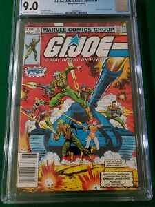 G.I. JOE A Real American Hero #1 CGC 9.0 Newsstand Edition 1982 Marvel - NICE!