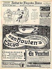 Cobre montaña gold artistas publicidad F. Jüttner van Houten 's cacao estilográficas 1907