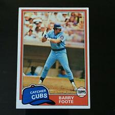 1981 Topps BARRY FOOTE #492 Chicago Cubs