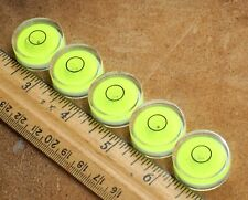 "LOT OF 5 = 1"" DIAMETER BULLS EYE BUBBLE LEVELS TELESCOPE RV LEVELING"