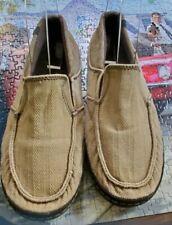 Mens Tan 'Teva' Canvas/Suede Slip On Loafer Size 8.5