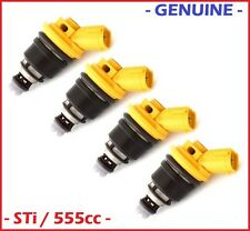 4 Genuine 555cc JECS / Subaru Side Feed Fuel Injectors 16600-AA170 Sti WRX GC8