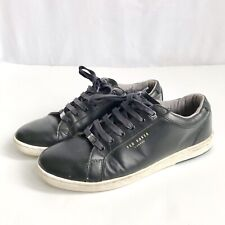 Ted Baker Men's Black Matte Leather Casual Fashion Sneaker Shoe US 9|UK 8|EUR 42