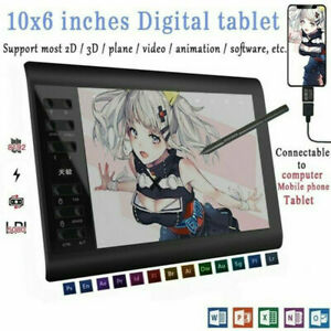 Graphic Tablet Drawing Pad with Digital Pen Quick Reading Pressure Sensing Gifts