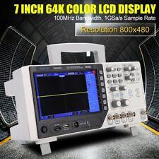 Hantek DSO4102C 2CHs 100 MHz Oscilloscopio Generatore di forme d'onda EU plug