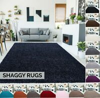 SOFT NON-SHED SHAGGY RUG LOW COST SMALL X LARGE THICK MODREN 5 cm HIGH PILE HOME