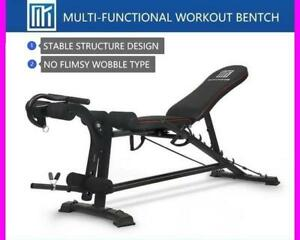 ADJUSTABLE BENCH *Multi-in-1* WORKOUT PRESS GYM HOME FITNESS - Clearance Sale