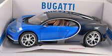 BUGATTI CHIRON in Blue / Black 1/18 scale model BURAGO